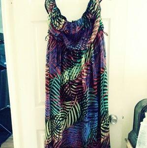 Vintage DOTS Rainbow Maxi Dress